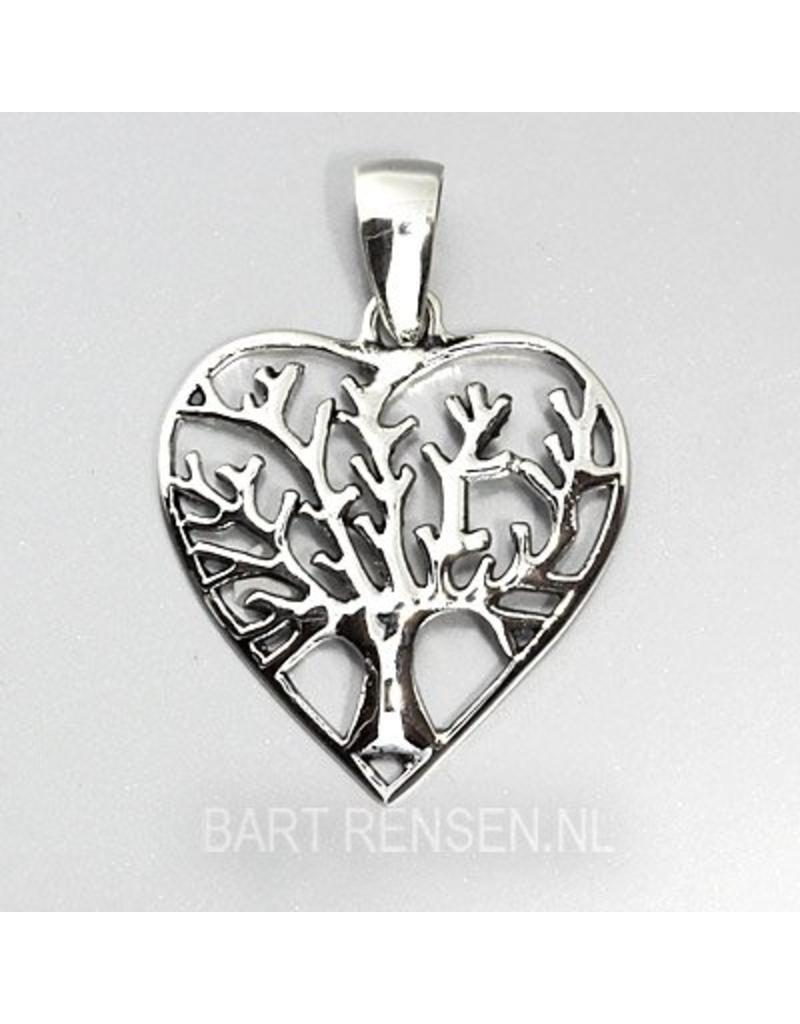 Lifetree Heart pendant - sterling silver