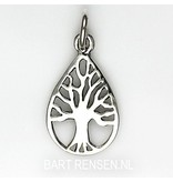 Tree of life pendant - sterling silver