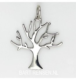 Winter tree pendant - silver