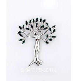 Tree of Life - Woman pendant - silver