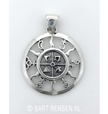 Four Elements and Planets pendant - sterling silver