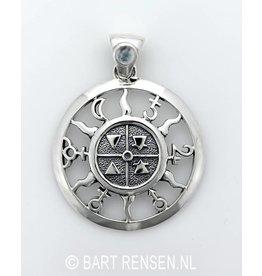 Four Elements & Planets pendant - silver