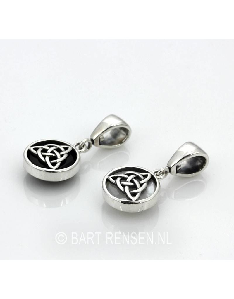 Triquetra pendant with stone - sterling silver
