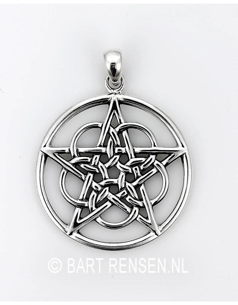 Pentacle pendant Circles - sterling silver