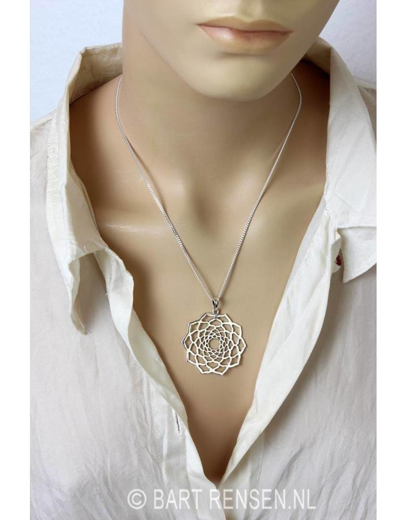Lotus pendant - - sterling silver
