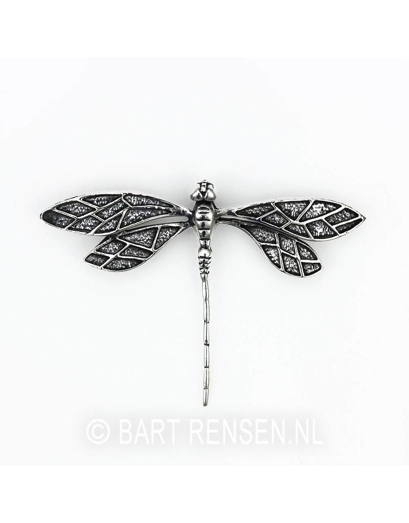 Dragonfly pendant - sterling  silver