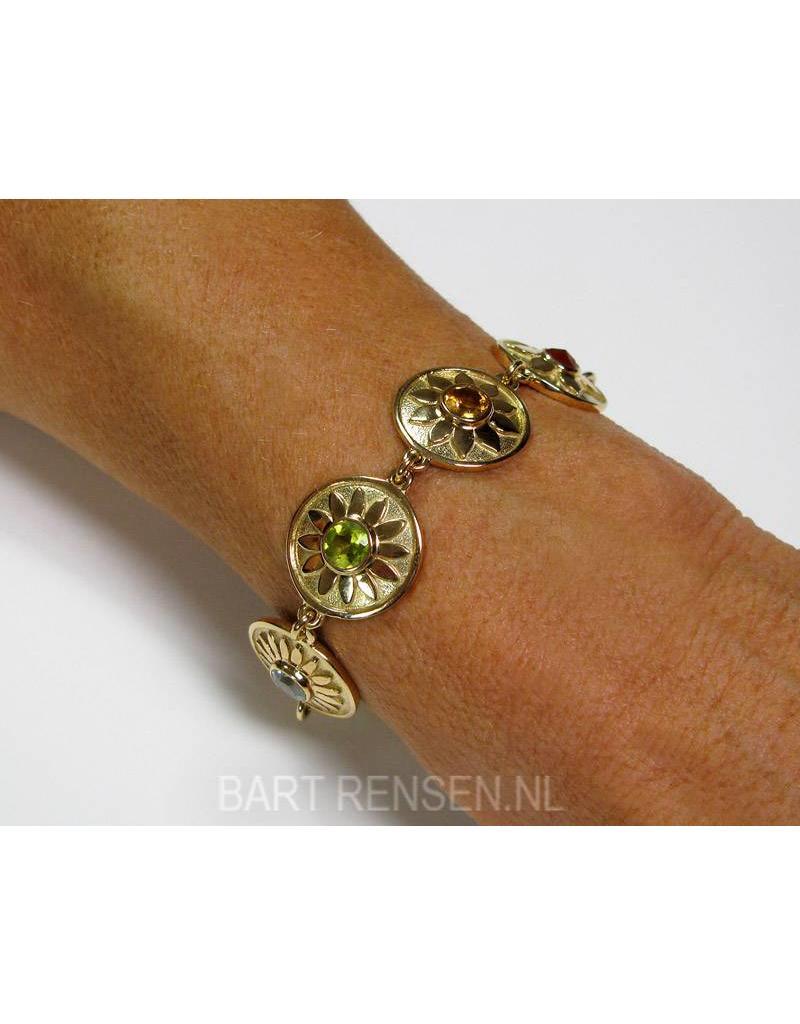 Chakra armband met Edelstenen - 14 krt goud