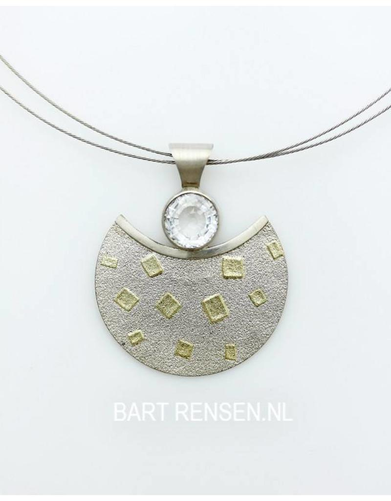 Sterling silver pendant with gold