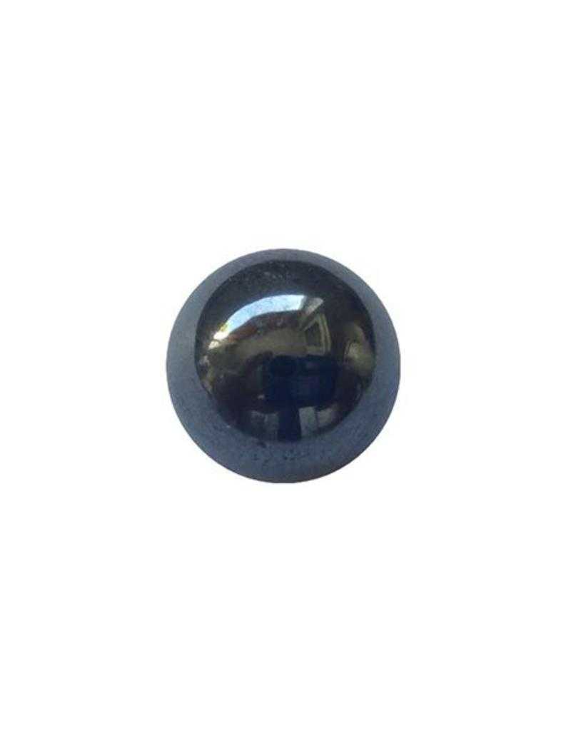 Hanger met edelsteen bol  - 14 krt goud