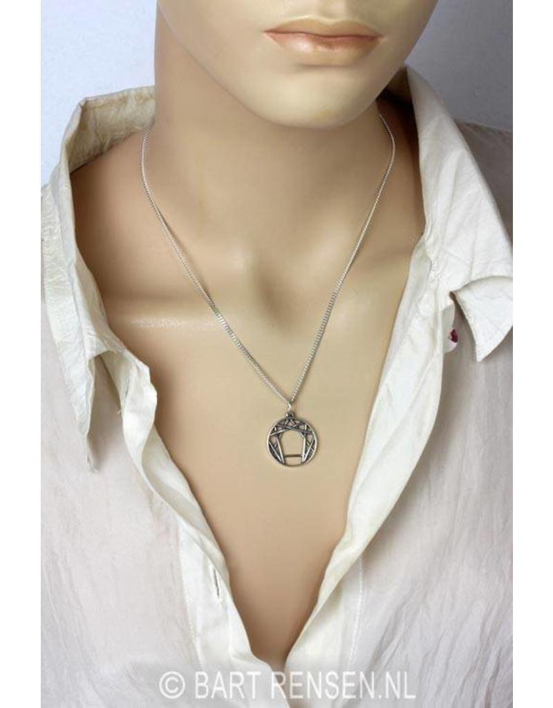 Enneagram pendant - sterling silver