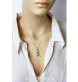Snake pendant with Egg - sterling silver