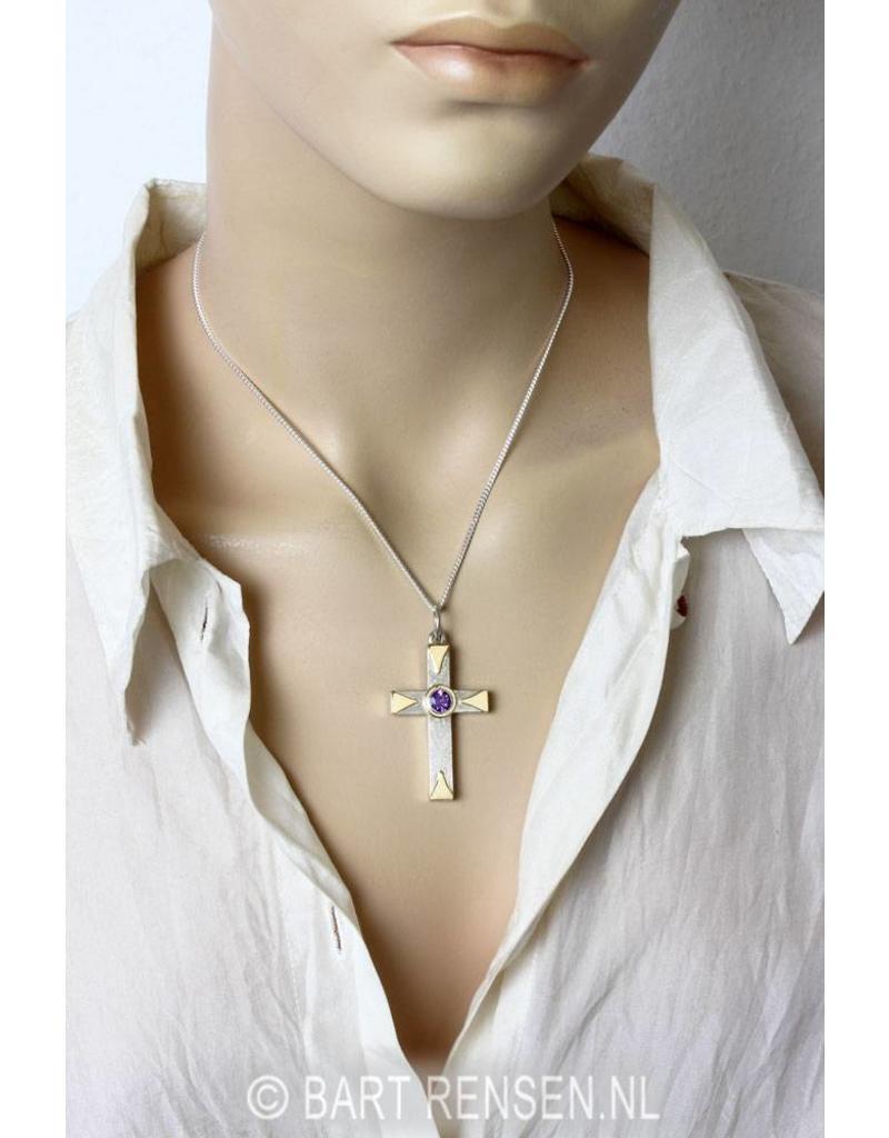Cross pendant - sterling silver