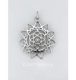 Seed of Life Lotus hanger - zilver