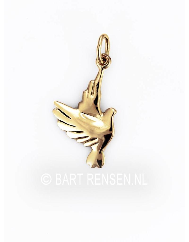 Duif hanger - echt zilver of 14 krt goud