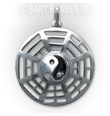 Yin-Yang pendant (with Trigrams) - sterling silver