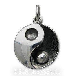 Ash pendant Yin Yang - silver