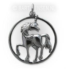 Eenhoorn hanger - zilver