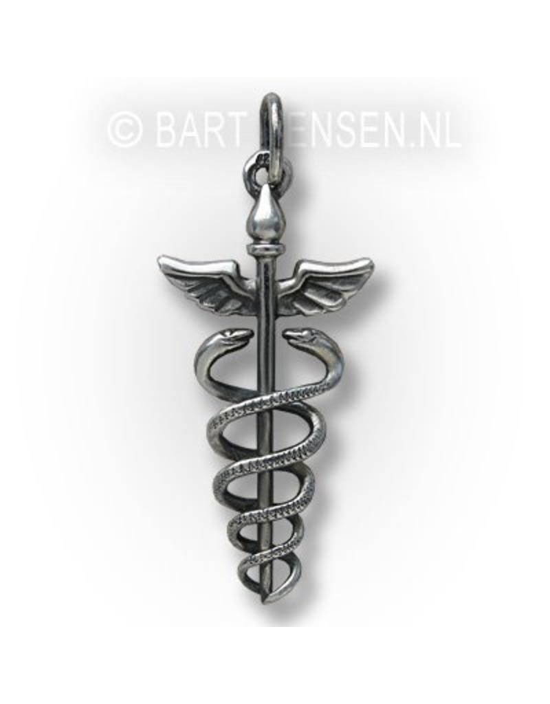CaduceusPendant - sterling silver