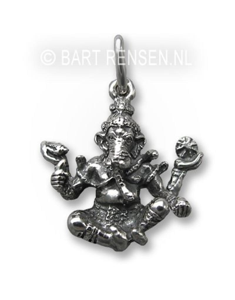 Ganesha pendant - sterling silver