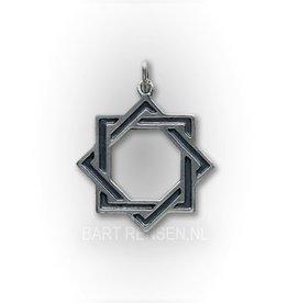 Octagram hanger - zilver
