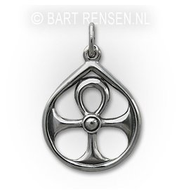 Ankh pendant in circle - Silver