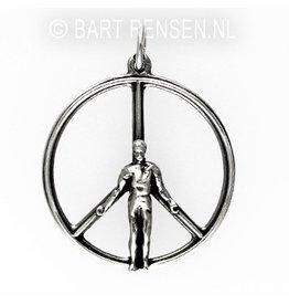 Vredesteken hanger - zilver