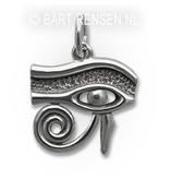 Horus-eye pendant (left) - sterling silver