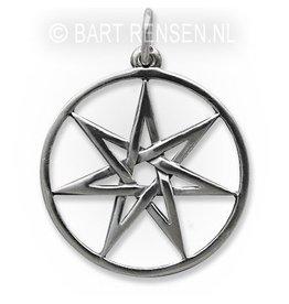 Zeven-ster hanger - zilver