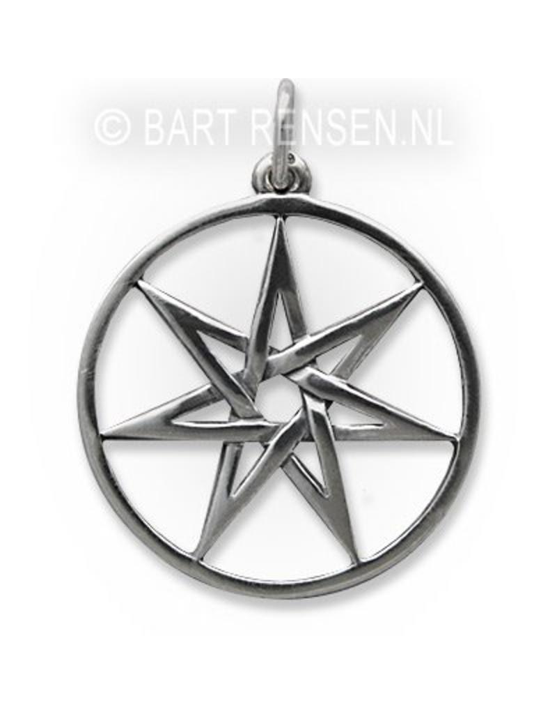 Zeven-ster hanger - echt zilver
