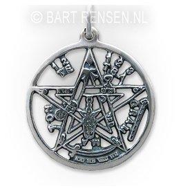 Pentagram Tetragammaton pendant - silver