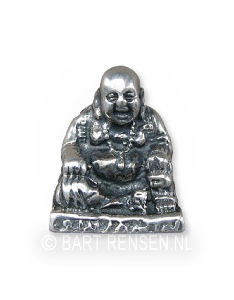 Lachende Boeddha hanger - echt zilver