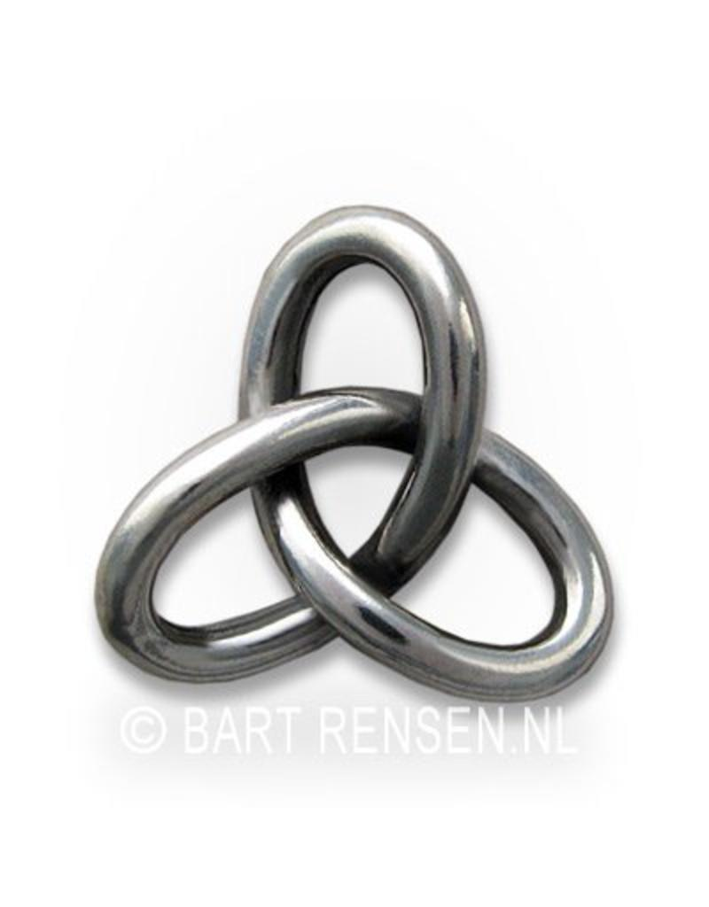 Gordian Knot pendant - sterling silver