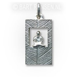 Meditation pendant - silver