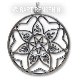 Zilveren Mandala hanger