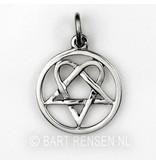 Heartagram pendant - sterling silver