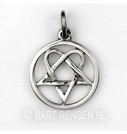 Heartagram pendant - silver