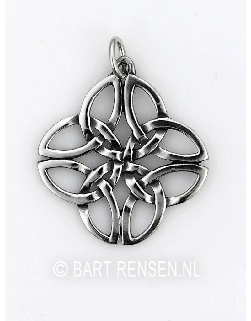 Keltische Knoop hanger - echt zilver