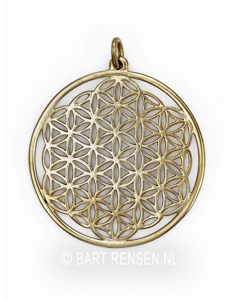 Flower of Life hanger - 14 krt goud