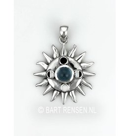 Sun And Moon Phases Pendant - silver