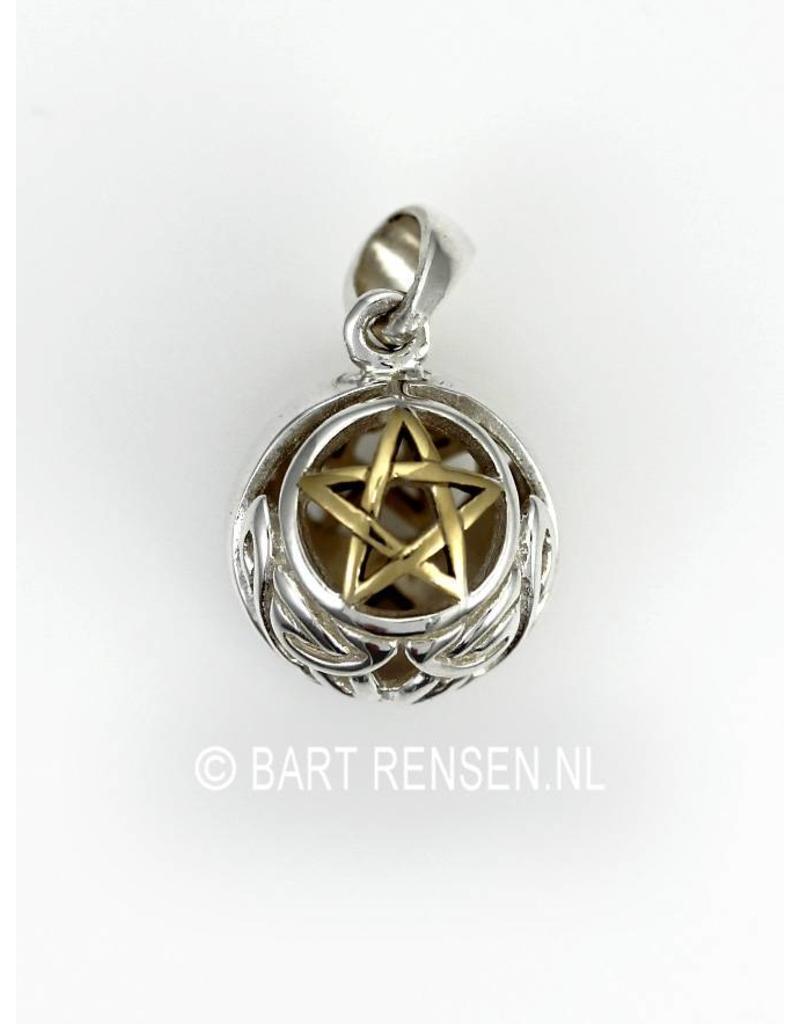 Pentagram Ball pendant - sterling silver