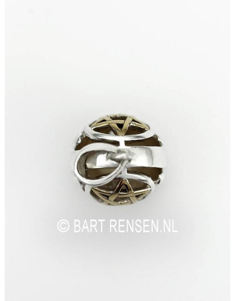 Pentagram Bol hanger - echt zilver