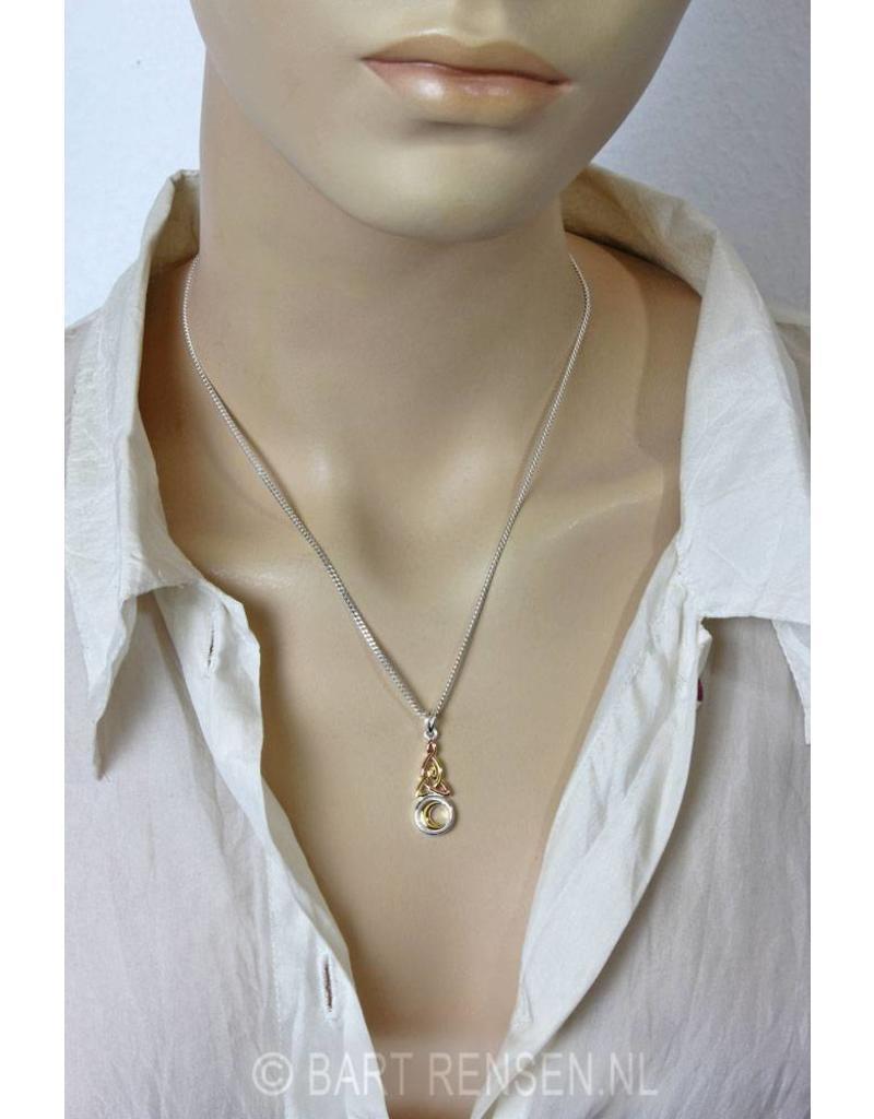 Triquetra hanger met Maan- echt zilver