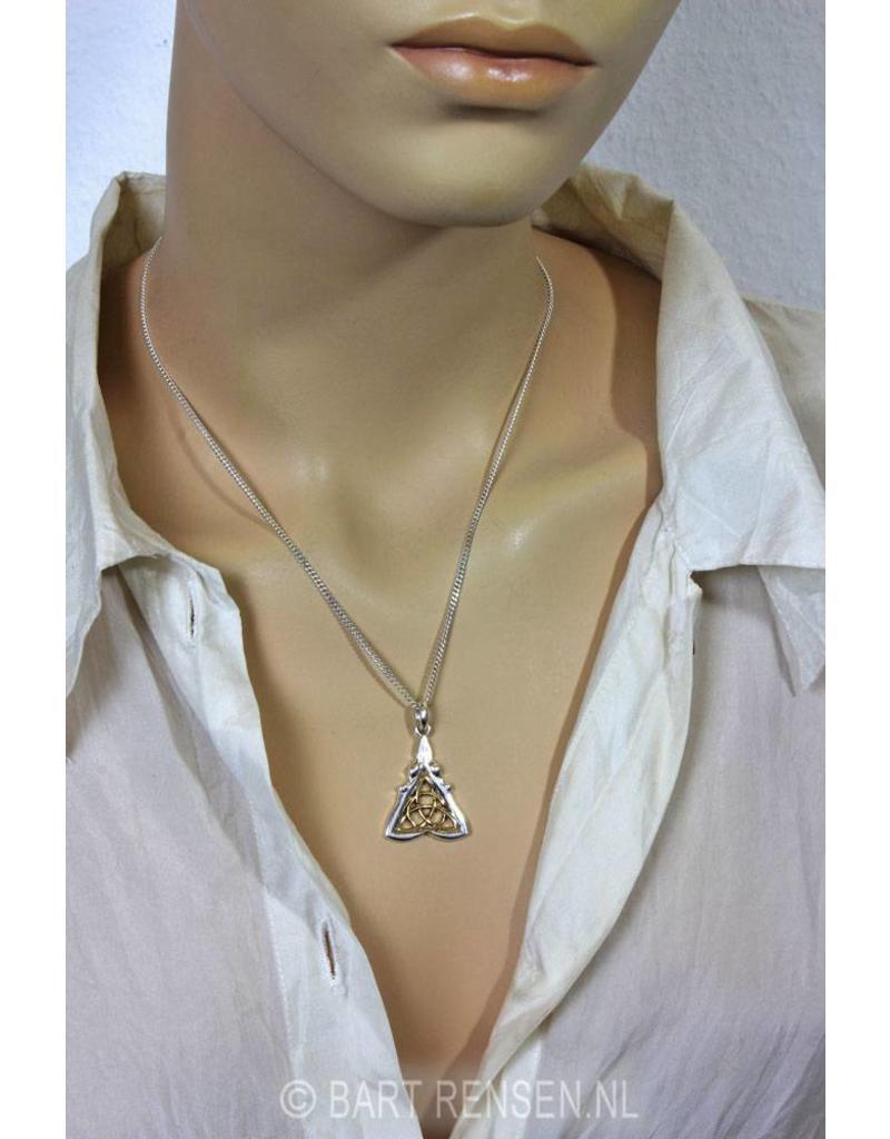 Celtic Goddess Pendant - sterling silver