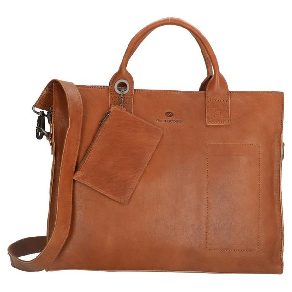 MicMacbags Micmacbags Golden Gate laptoptas cognac