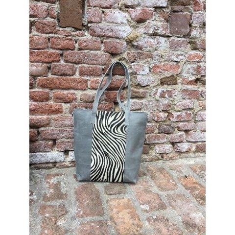 Passione handtas zebra grijs