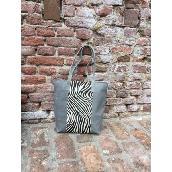 Passione Passione handtas zebra grijs