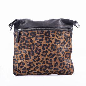 DSTRCT DSTRCT Wild schoudertas groot leopard bruin