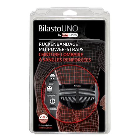 BilastoUNO Rückenbandage mit Power-Straps in Universalgrösse S-XL