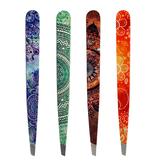 Hausmann Pinzetten  aus Inox-Stahl  mit Mandala Muster