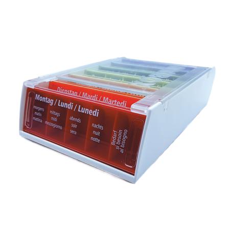 Anabox Pilulier semaine 7 jours, 5 cases par jour